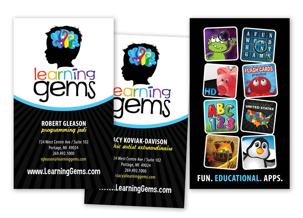 Learning Gems Business Card Design