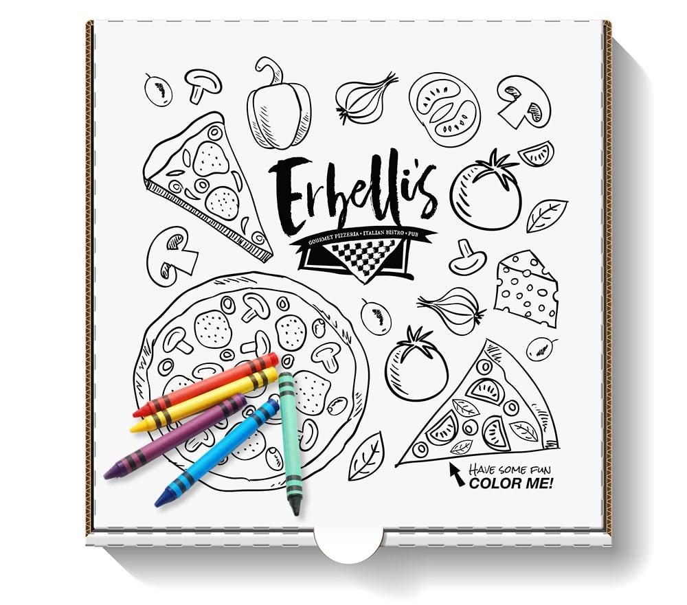 Erbelli's Pizza Box Design | Print Design