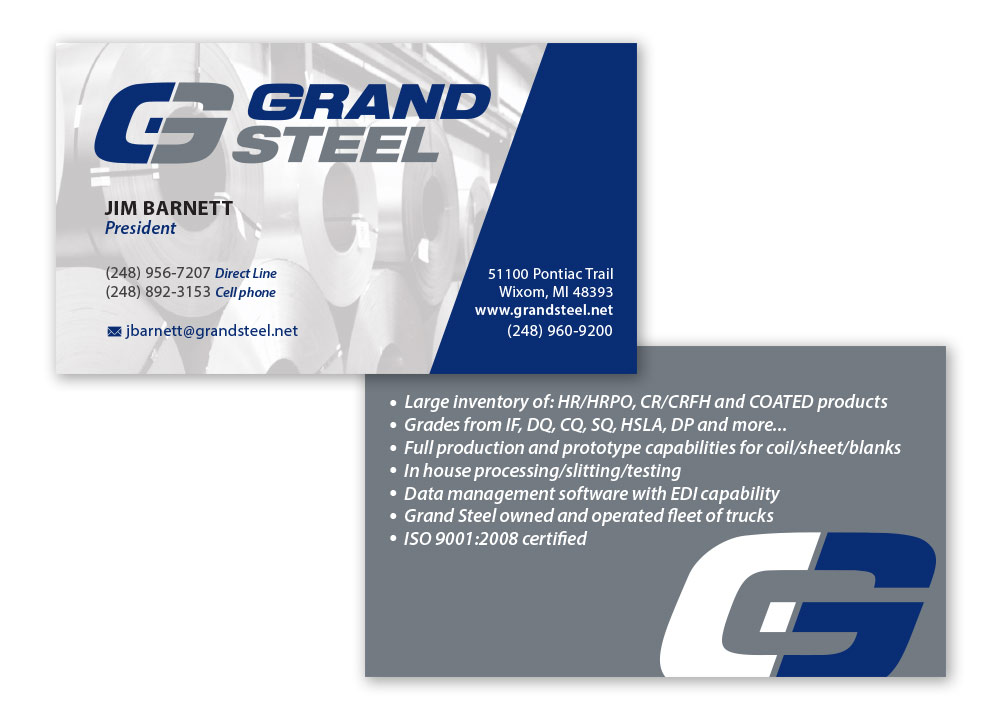 Business Card Design - Grand Steel