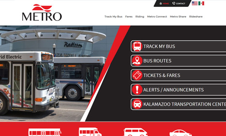 Kalamazoo Metro Transit - Website Design by Blue Fire Media