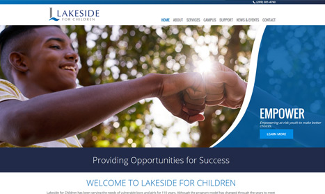 Lakeside For Children - Website Design by Blue Fire Media