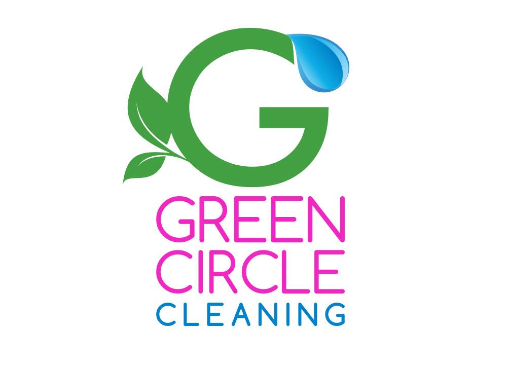 Green Circle Cleaning Logo Design