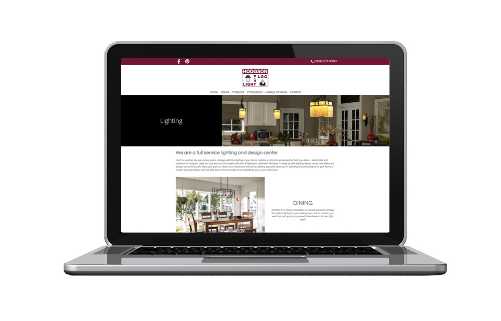 Hodgson Light and Log - Website Design