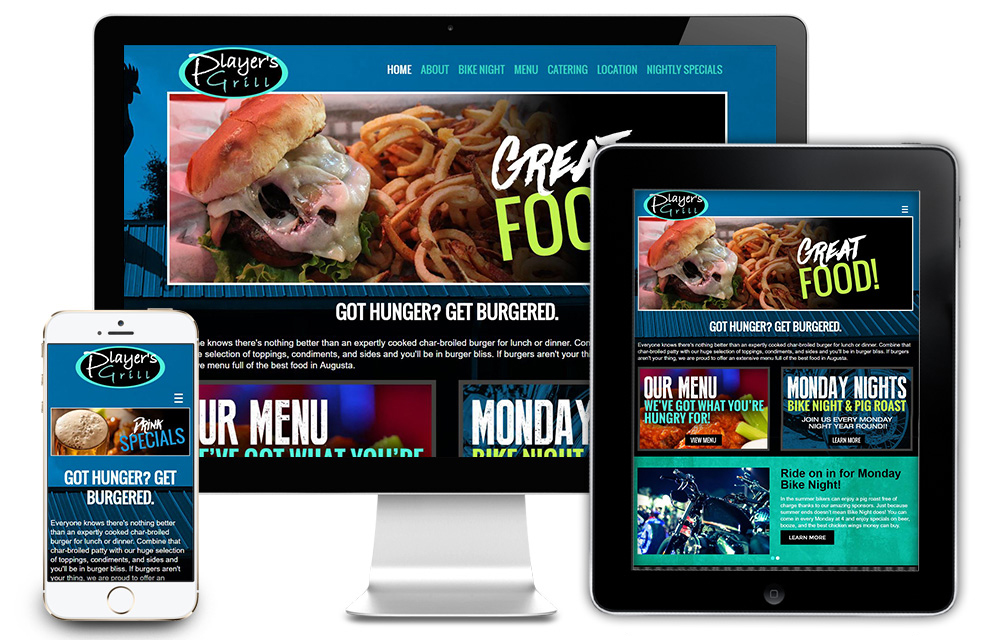 Player's Grill Website Design