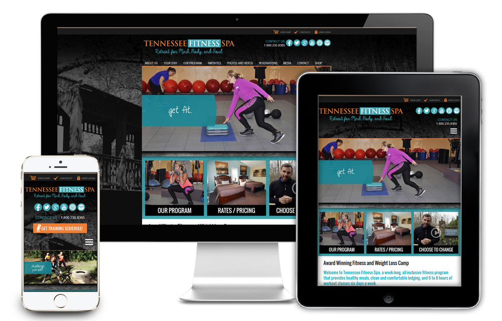 Tennessee Fitness Spa - Website Design