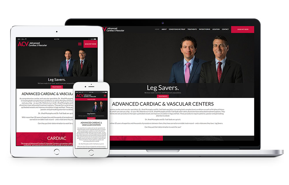 Advanced Cardic and Vascular Web Design