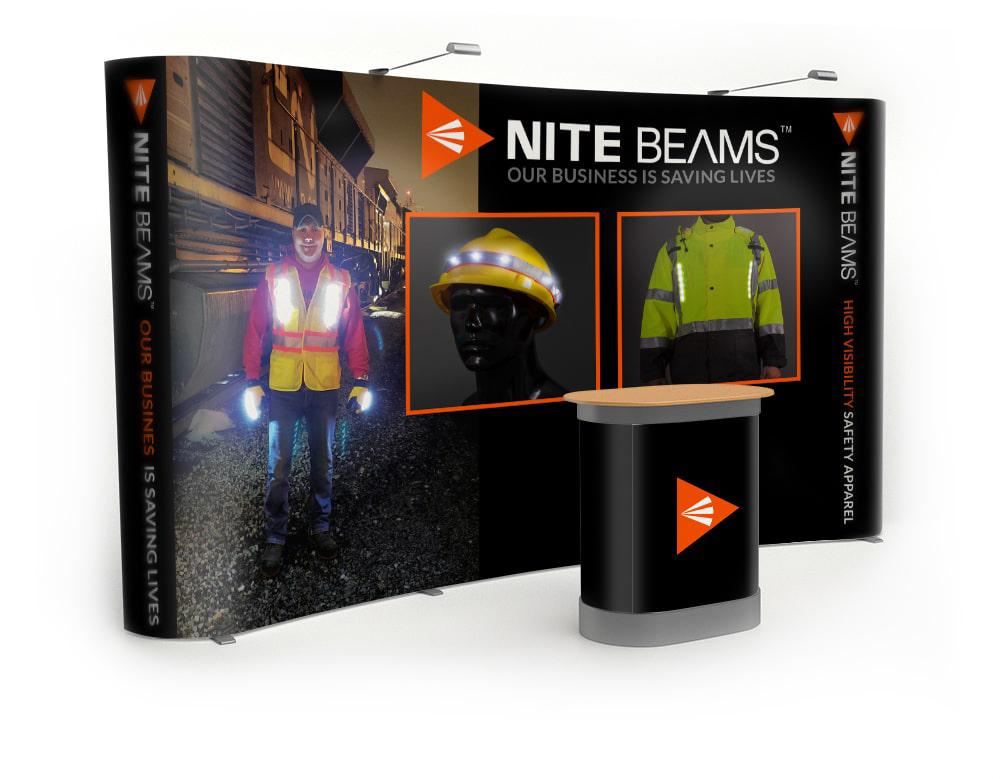 Nite Beams Trade Show Display