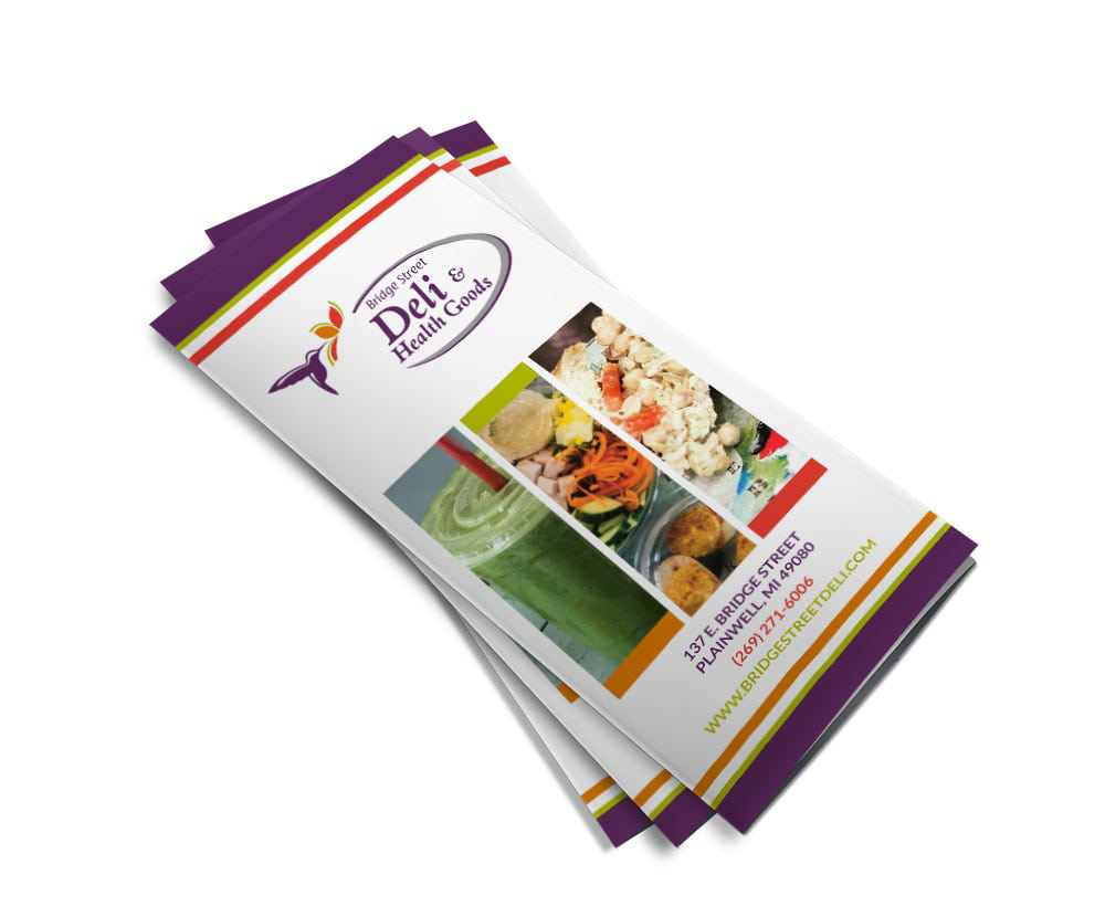 Bridge Street Deli Tri-Fold Menu Brochure