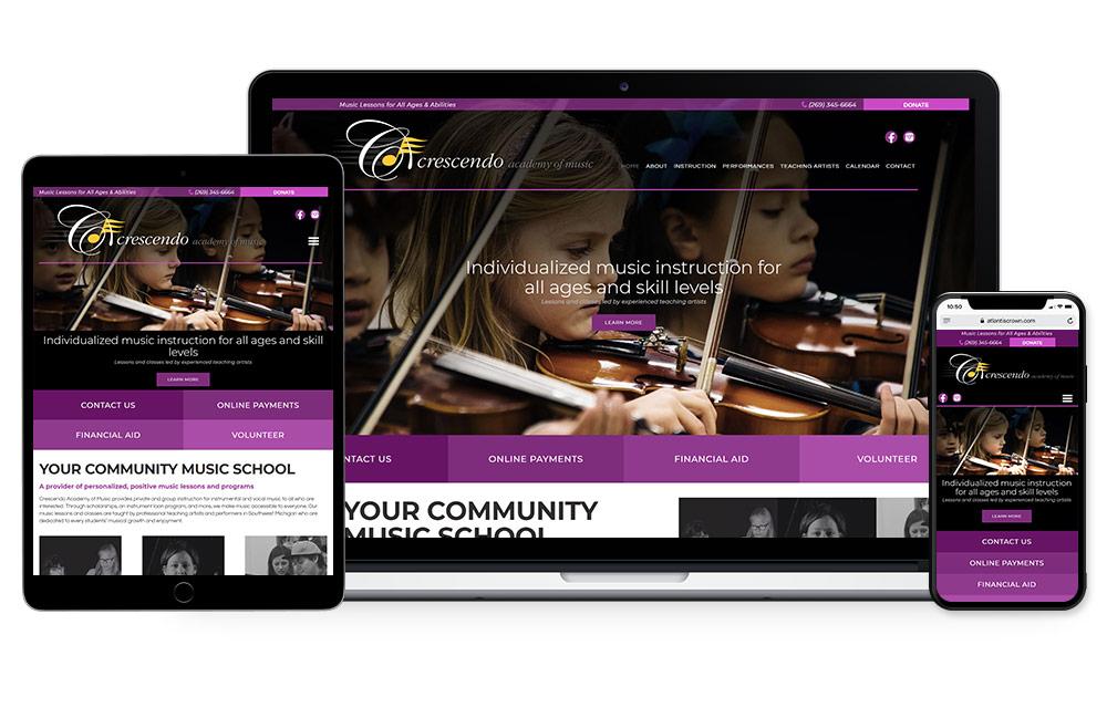 Crescendo Music Academy Website Design